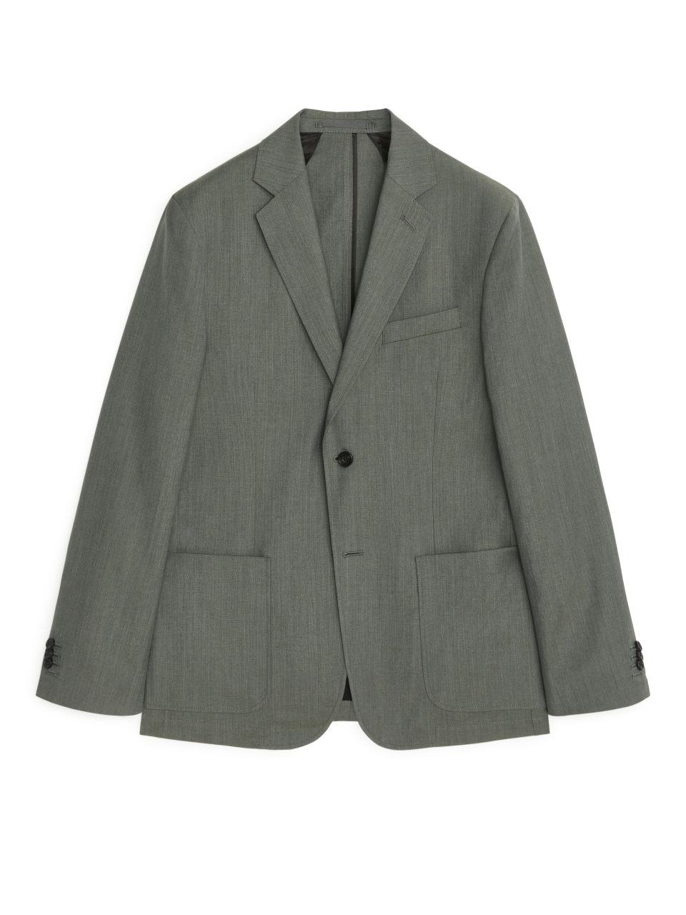 Casual Blazer Wool Linen - Green