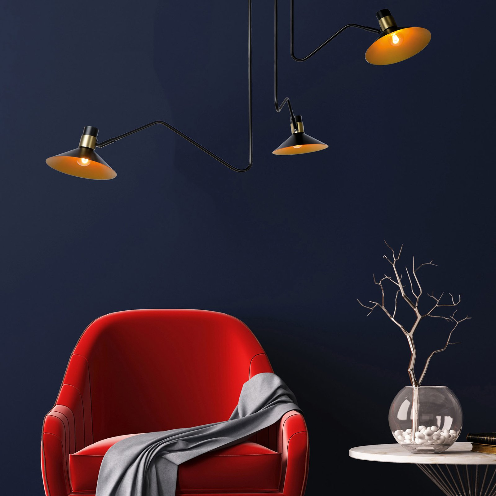 Pepijn taklampe, 3 lyskilder