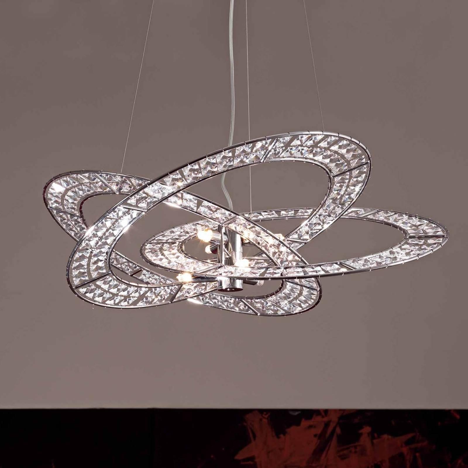Kristalliriippuvalaisin Trilogy 6-lamp. kirkas