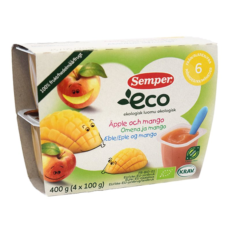 Puré Mango & Äpple 4-Pack - 78% rabatt