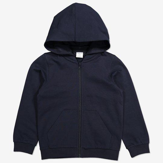 Hoodie med glidelås mørkblå
