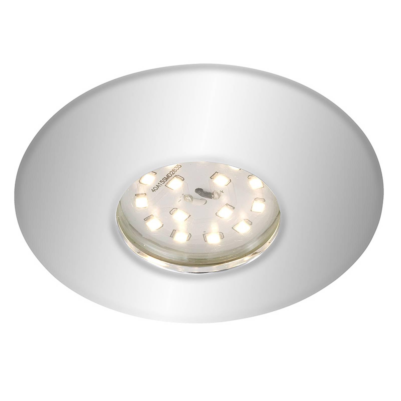 Kromattu Shower-LED-uppokohdevalaisin, IP65
