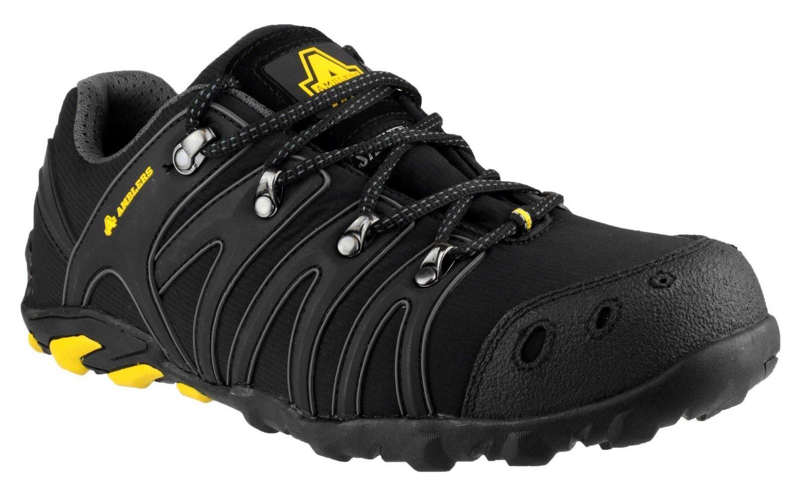 Amblers Unisex Safety Soft Shell Trainer Black - Black 4