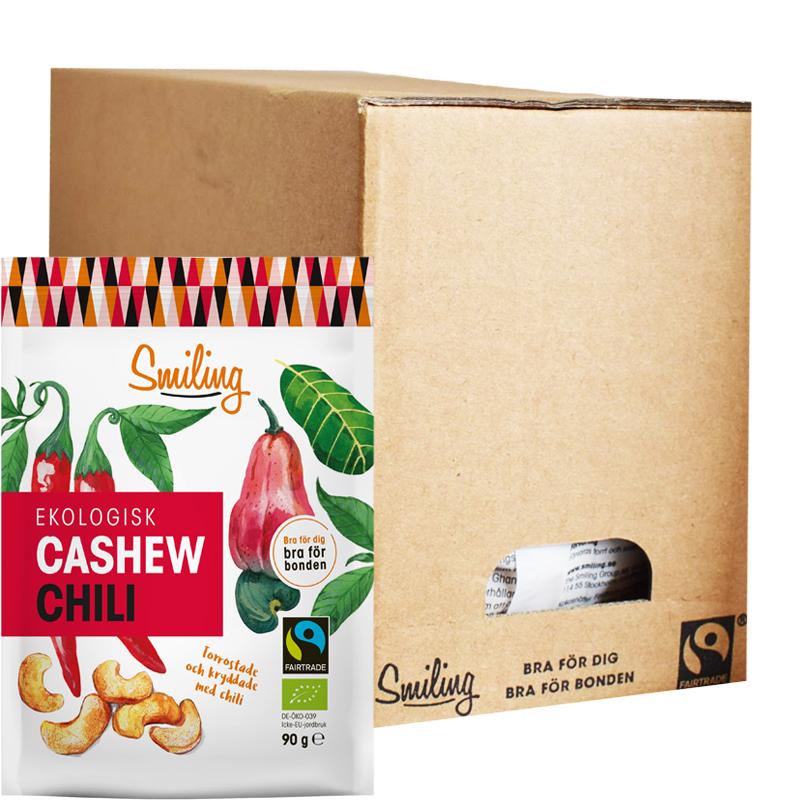Eko Cashewnötter Chili 7-pack - 25% rabatt