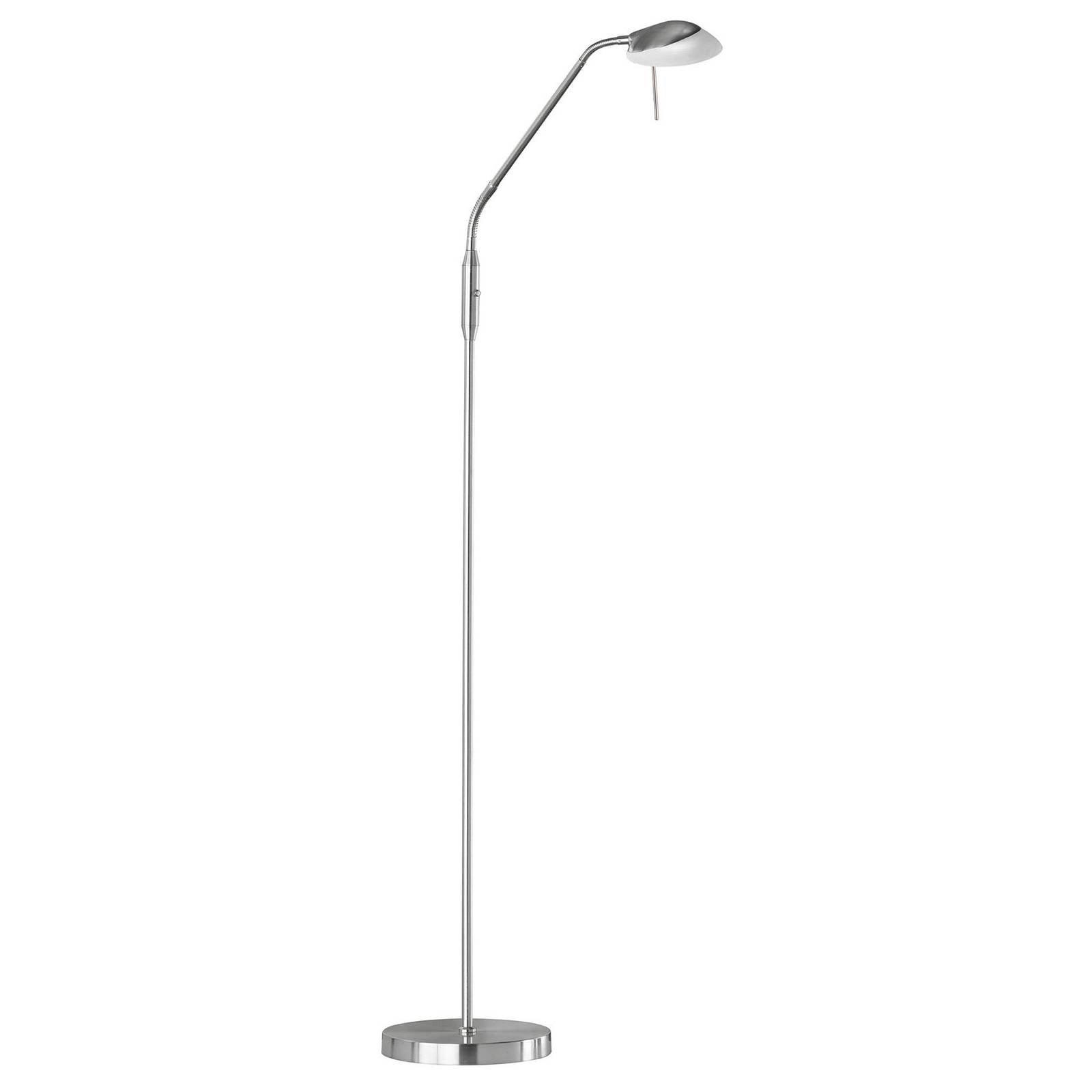 LED-gulvlampe Pool TW, 1 lyskilde, nikkel