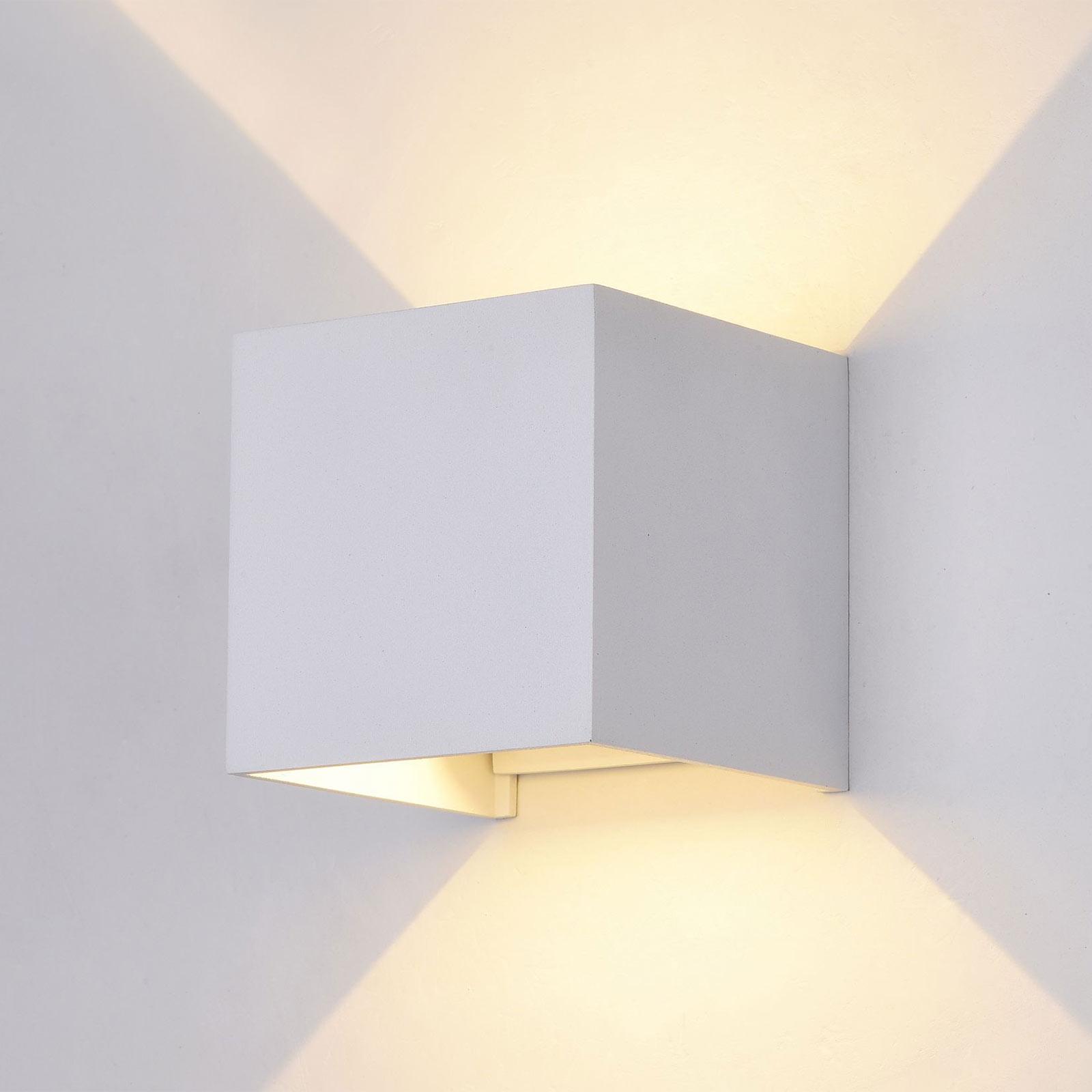 LED-ulkoseinävalaisin Fulton, 10 x 10cm, valkoinen