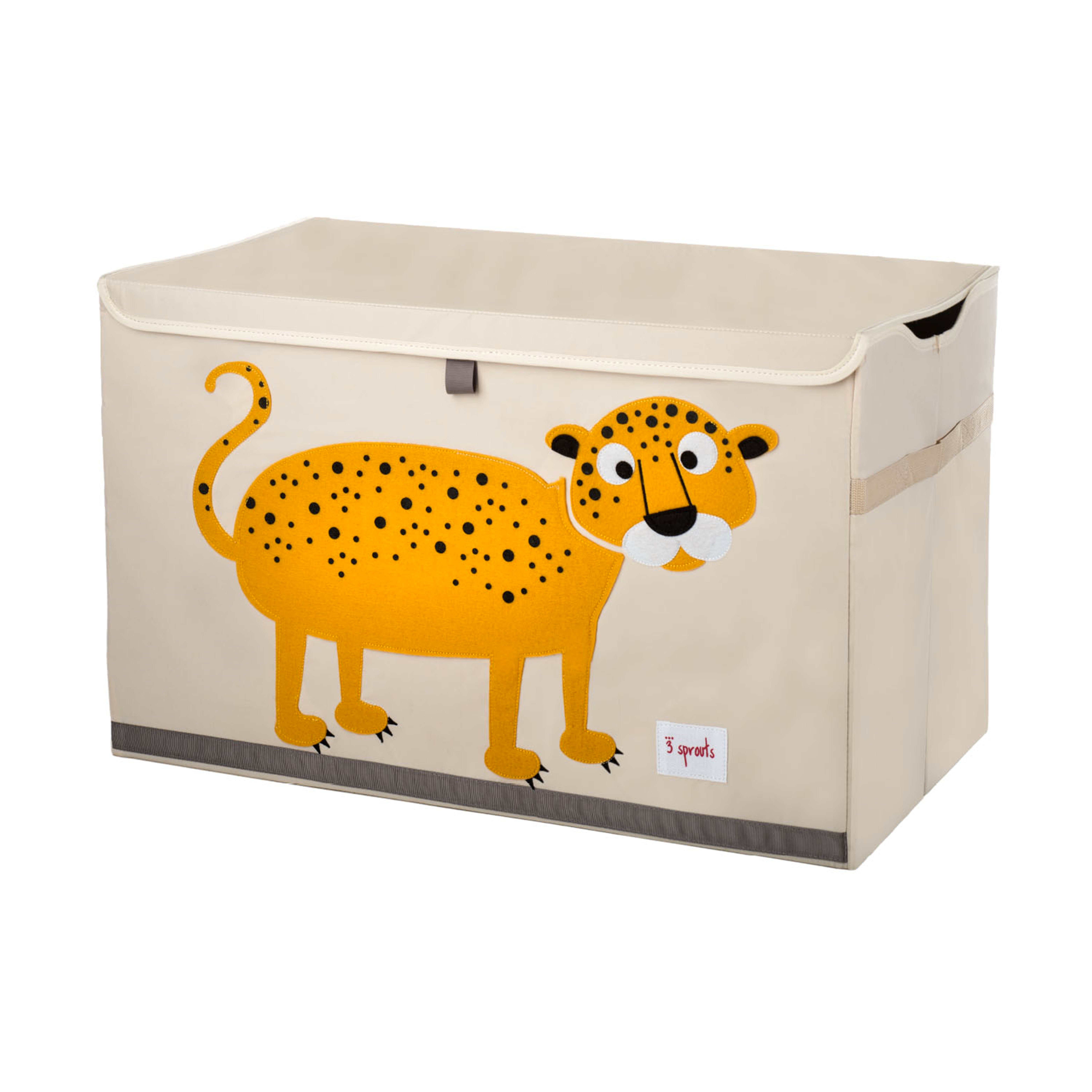 3 Sprouts - Toy Chest - Orange Leopard