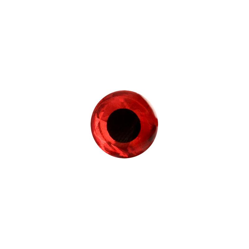 3D Epoxy Eyes - Holo Red 5mm 20stk Wapsi