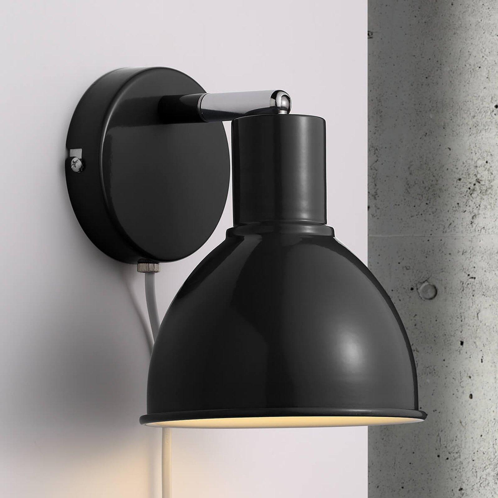 Nydelig utformet vegglampe Pop Wall, svart