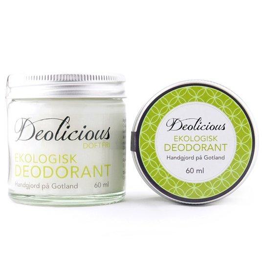 Deolicious Ekologisk Deodorant Doftfri, 60 ml