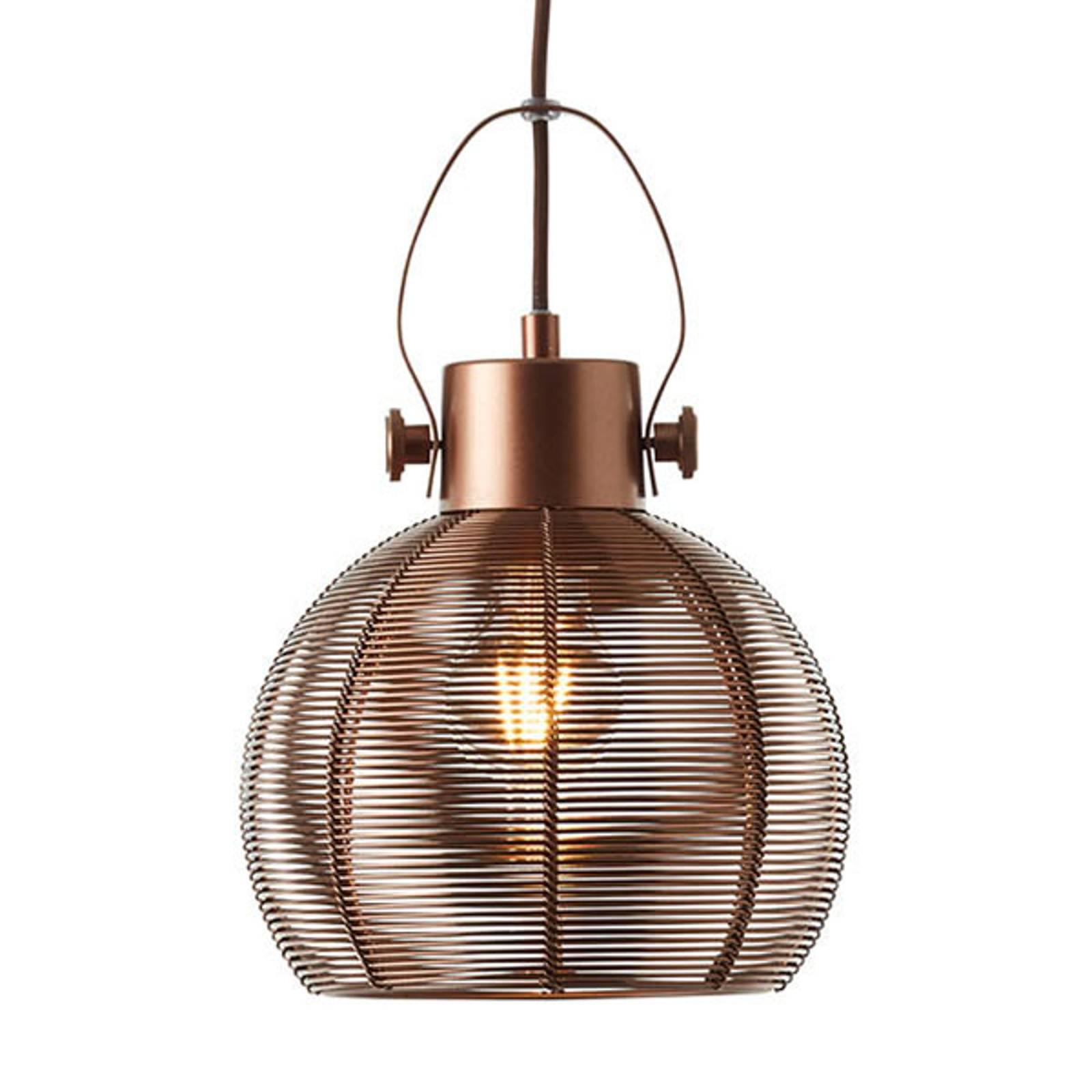 Riippulamppu Sambo häkkivarjostin 1 lampp. ruskea
