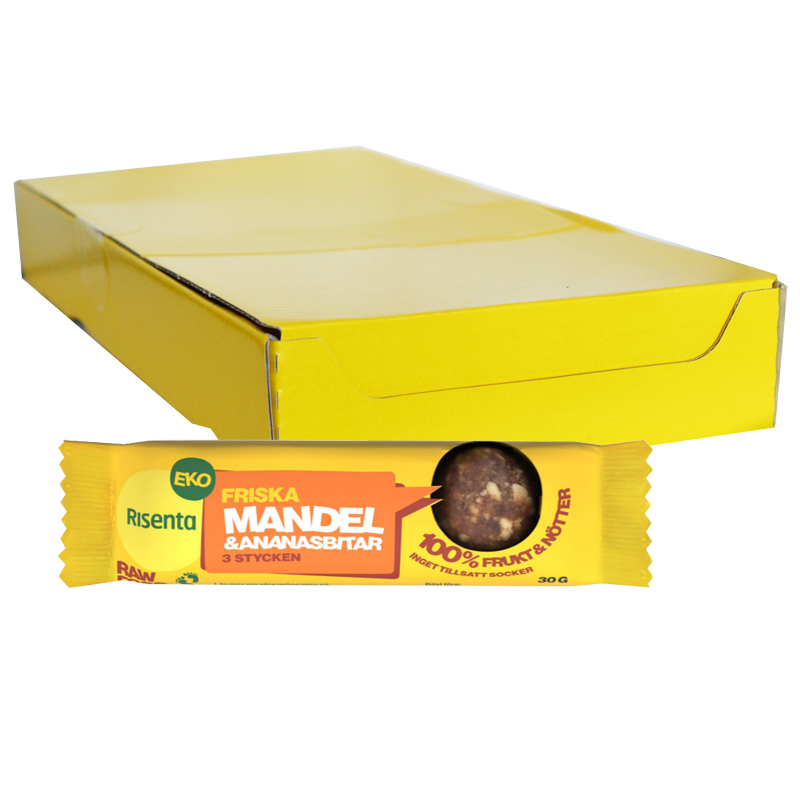 Hel Låda Mandel & Ananasbitar 16 x 30g - 40% rabatt