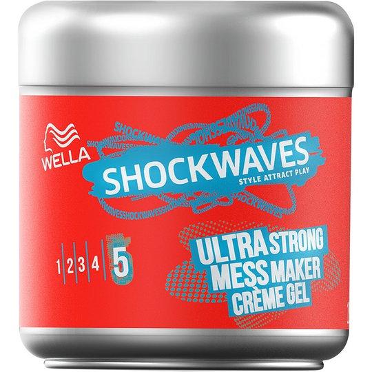Wellashockwaves Ultra Strong Mess Constructor Creme Gel, 150 ml Wella Styling Hiusgeelit
