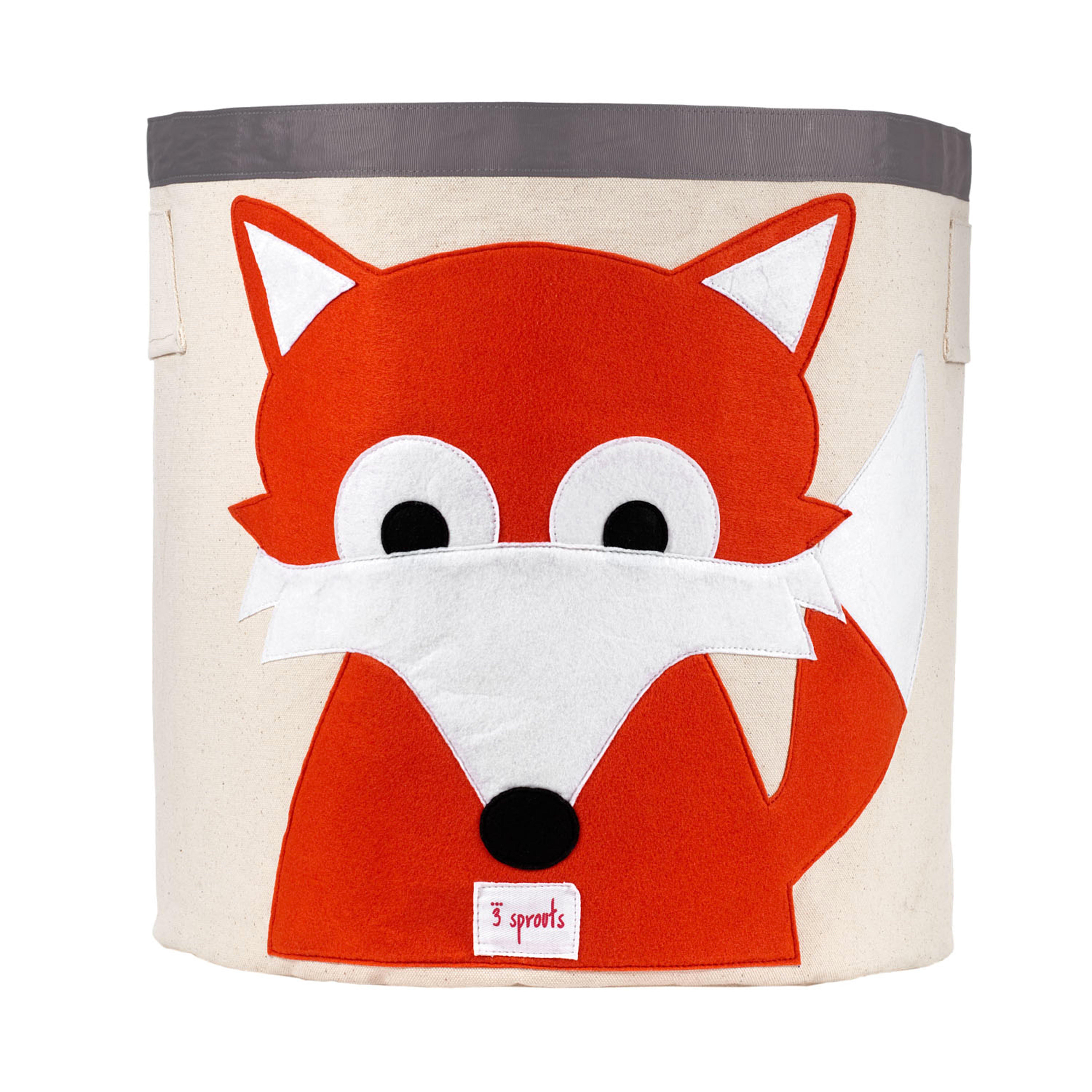 3 Sprouts - Storage Bin - Orange Fox