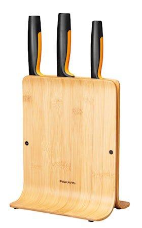 FF Knivblokk i bambus med 3 kniver