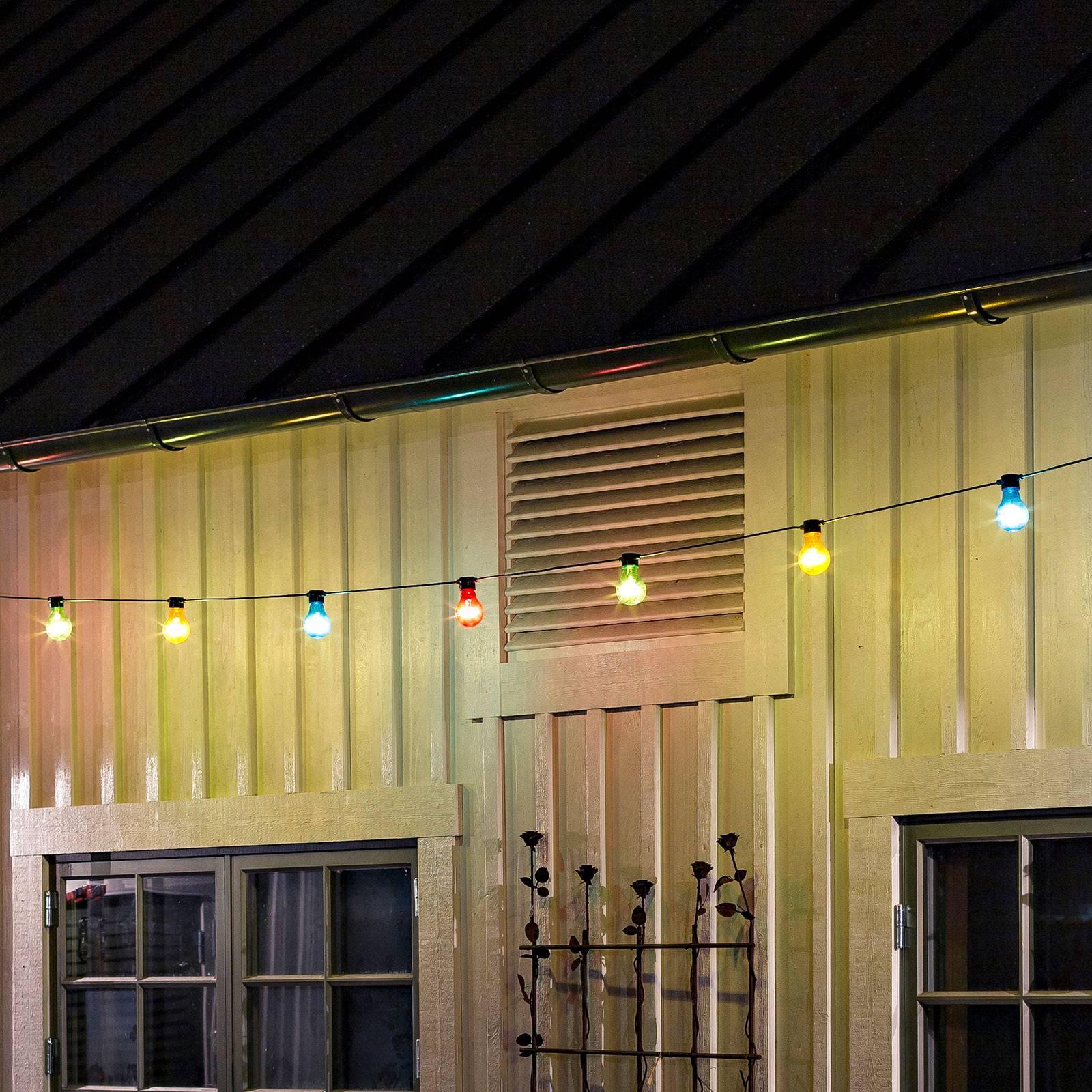 Valoketju Biergarten 20 värikästä LED-lamppua