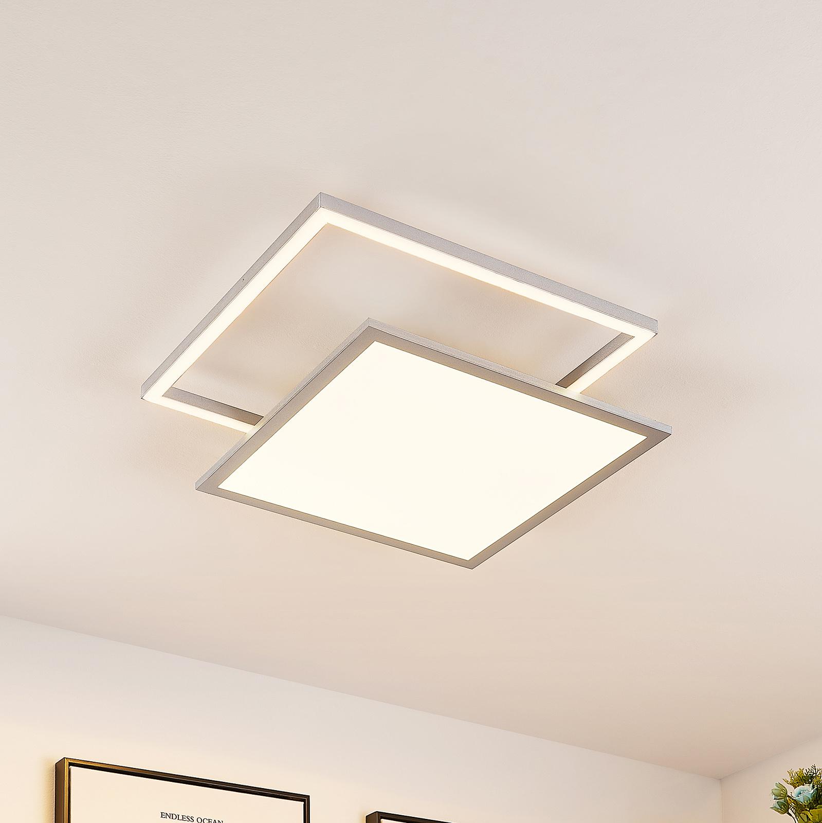 Lucande Senan -LED-kattovalaisin, neliömäinen, CCT