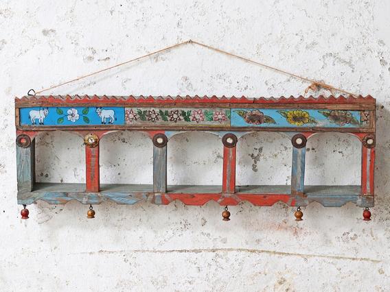 Ornate Wall Rack Blue