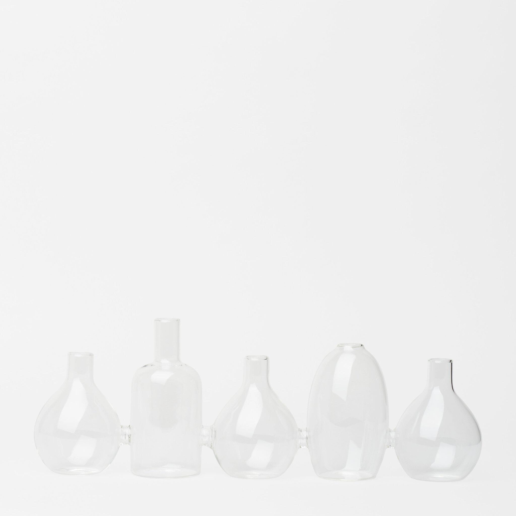 Mini vaser, 5 stycken