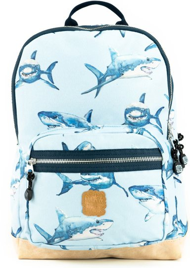 Pick & Pack Ryggsekk Shark, Light Blue