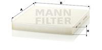 Raitisilmasuodatin MANN-FILTER CU 27 008