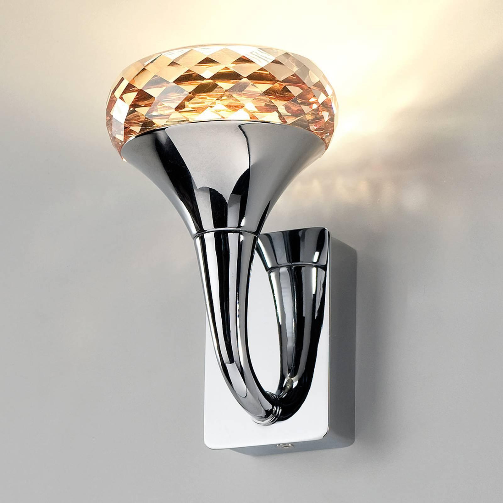 Krystalline designer-LED vegglampe Fairy amber