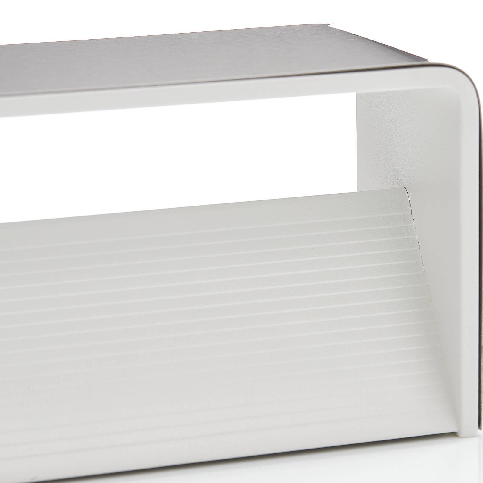 Lucande Sessa -LED-seinävalaisin 37 cm nikkeli