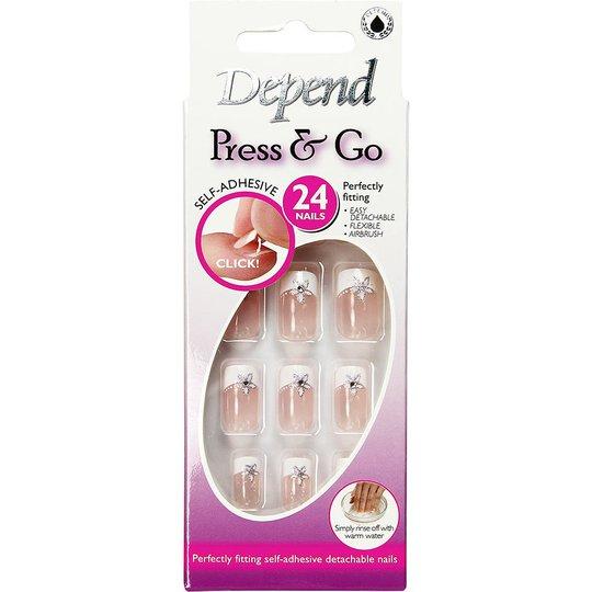 Depend Press & Go Adhesive Fake Nails 6322, Depend Depend Kynsilakat