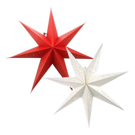 Adventsstjärna för Glödlampa - Röd