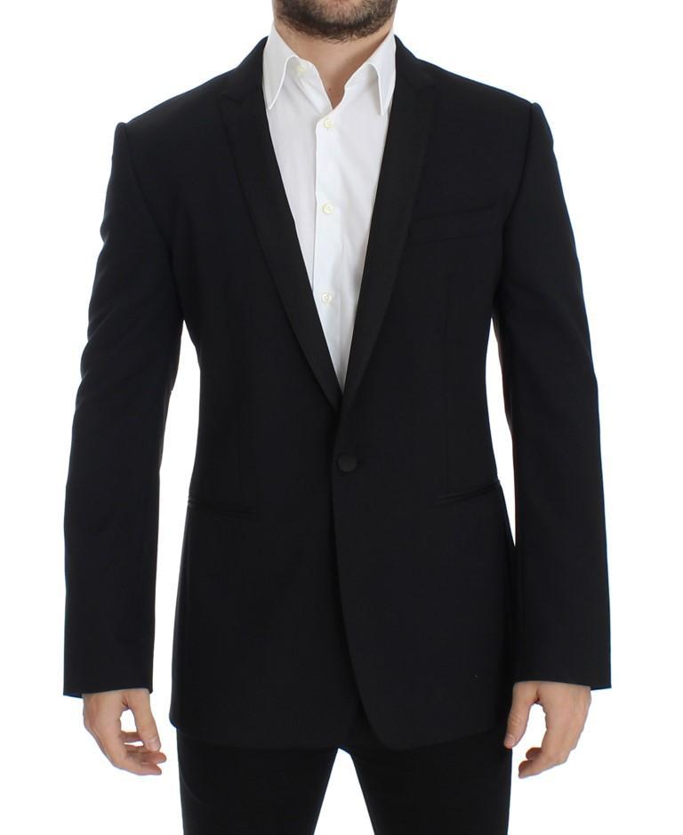 Dolce & Gabbana Men's wool stretch slim fit Blazer Black SIG12224 - IT48 | M