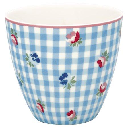Viola Latte Cup Check Pale Blue