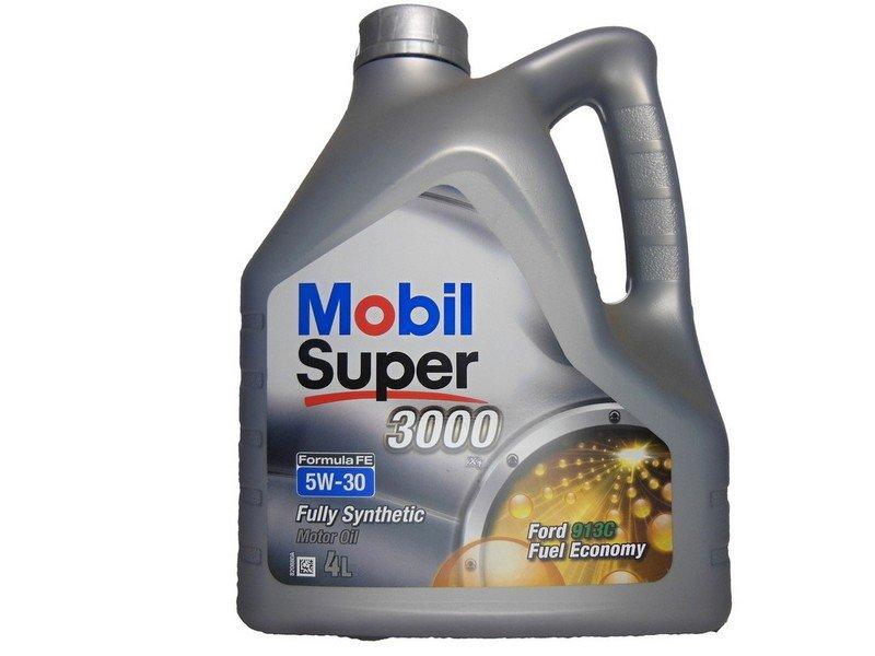 Moottoriöljy MOBIL 5W30 SUPER 3000 FORMULA FE 4L