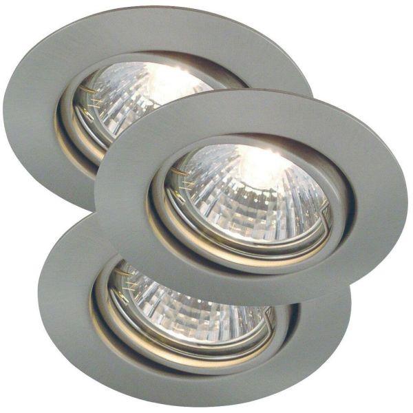 Nordlux TRITON 54540132 LED-kohdevalo 3 kpl, GU10, IP23, 35W Harjattu teräs