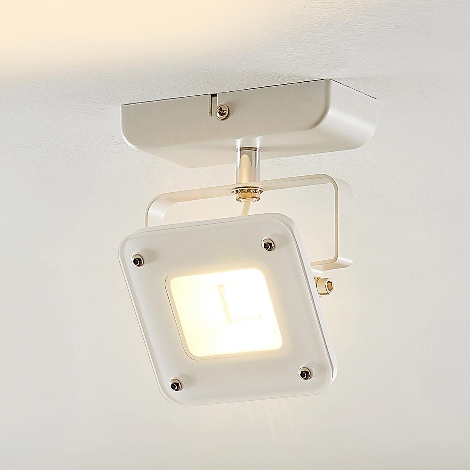 LED-kohdevalo Juliana, valk., himm., 1-lamppuinen