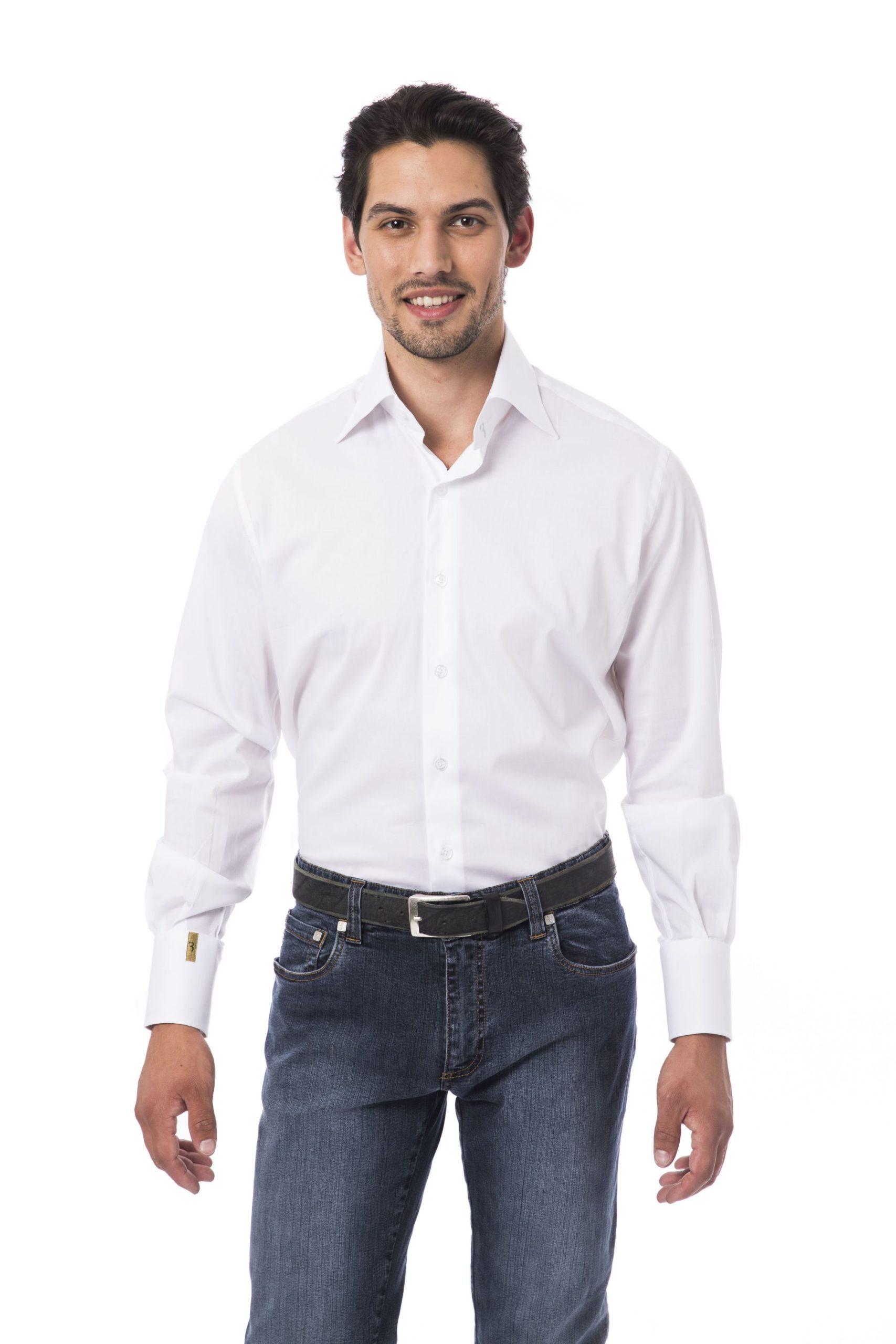 Billionaire Italian Couture Men's Bianco Shirt White BI1394682 - IT46 | S