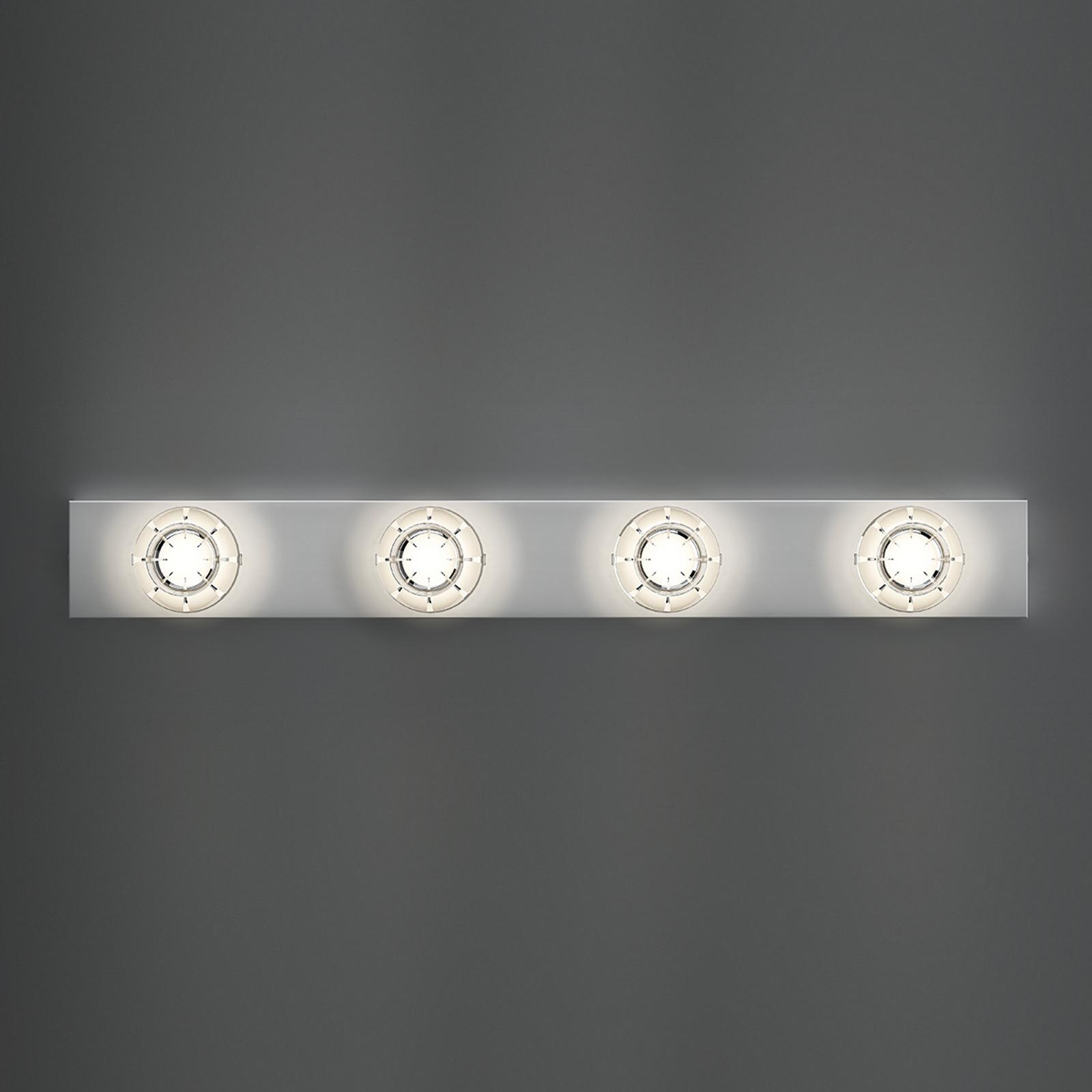 Kaunis LED-seinävalaisin Puns, kromi, 4 lamppua