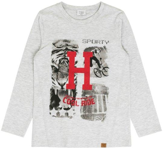 Hust & Claire Arti T-Skjorte L/S, Pearl grey melange 5 år