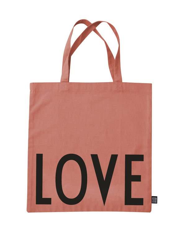 Design Letters - Farvorite Tote Bag - Love Raspberry Beige (10502001ROSELOVE)