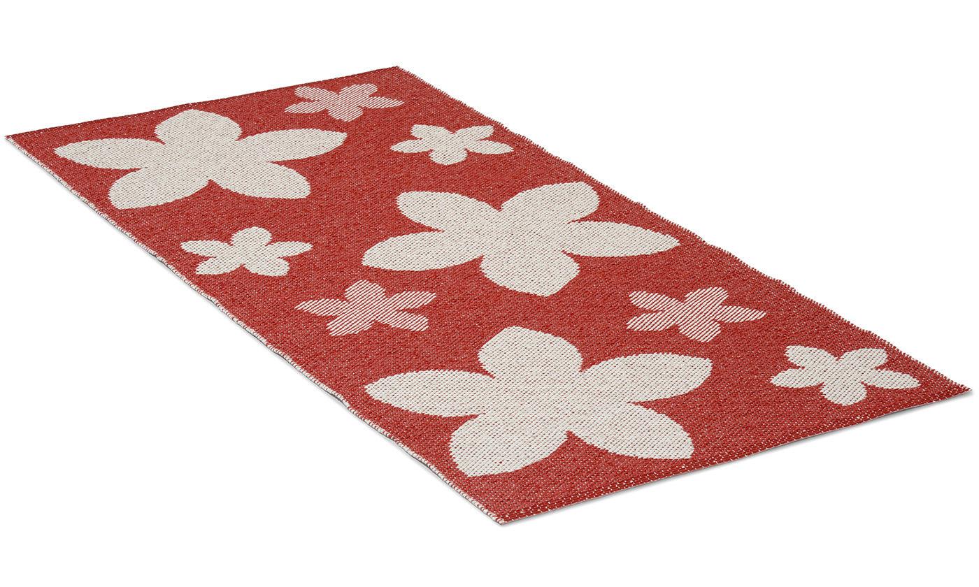 Flower rød - plastteppe