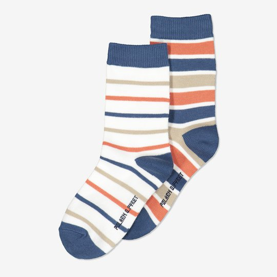 2-pakning stripete sokker blå