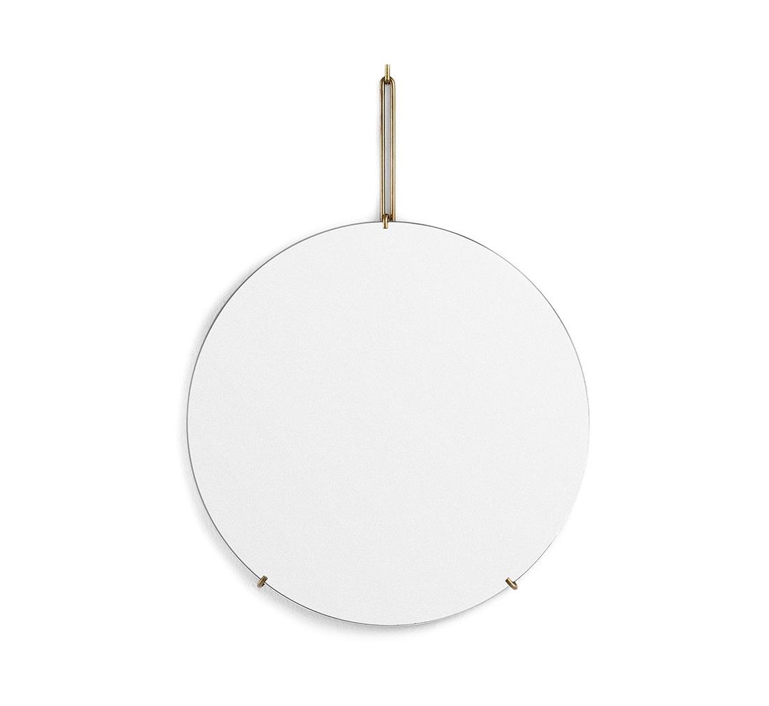 Spegel Ø70cm WALL MIRROR brass, MOEBE