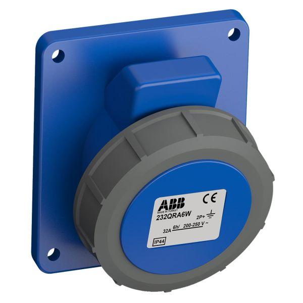 ABB 2CMA102358R1000 Paneluttak hurtigtilkoblet, vibrasjonsbestandig Vinklet, 3-polet, 32 A