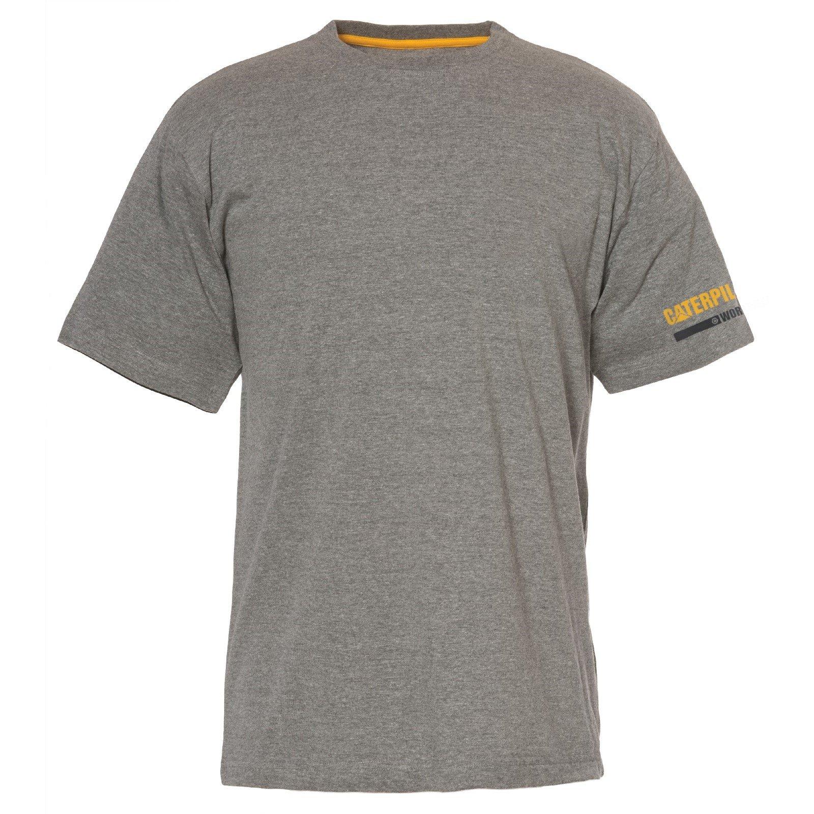 Caterpillar Men's Essentials SS T-Shirt Various Colours 28885-48760 - Dark Grey Lge