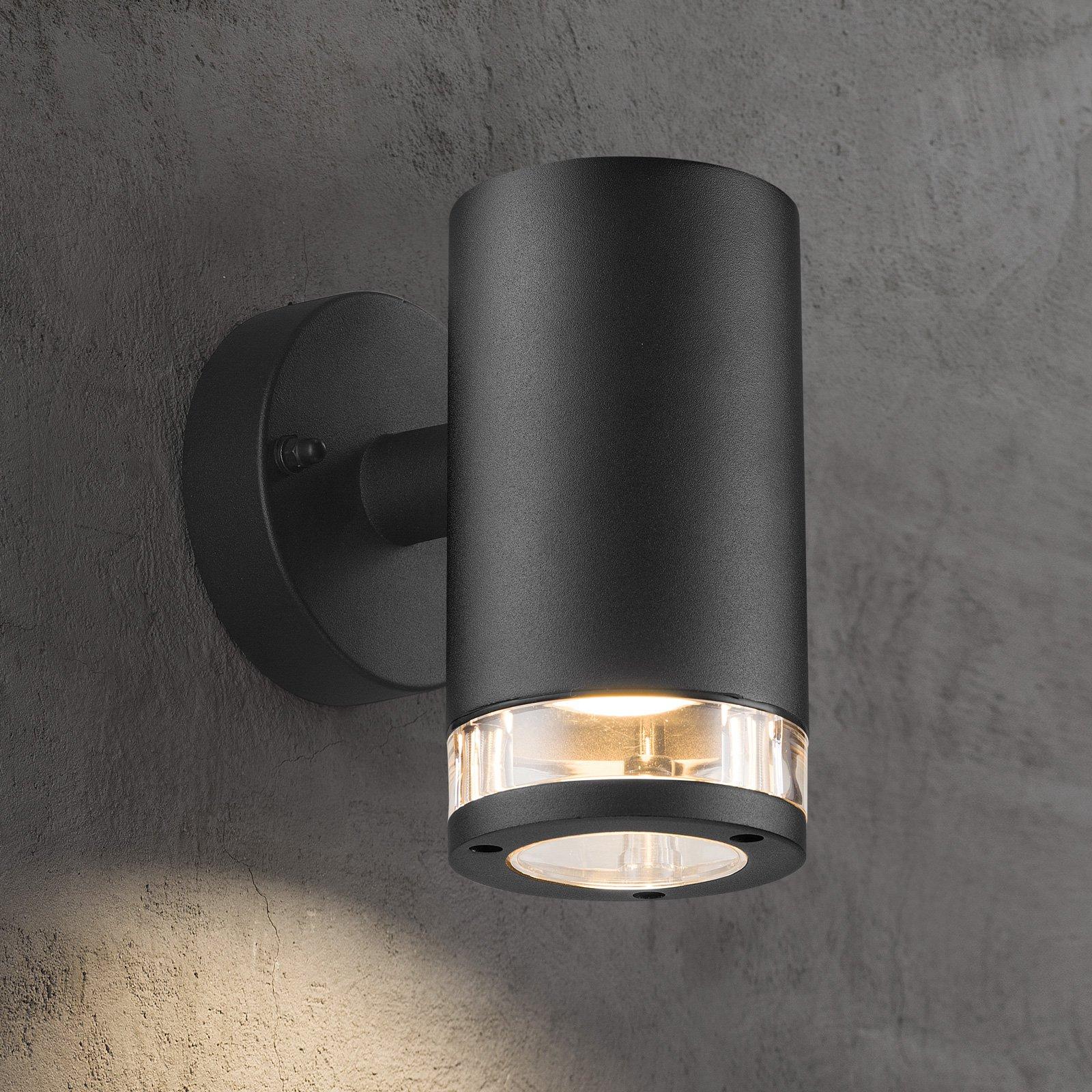 Utendørs vegglampe Birk, 1 lyskilde, svart