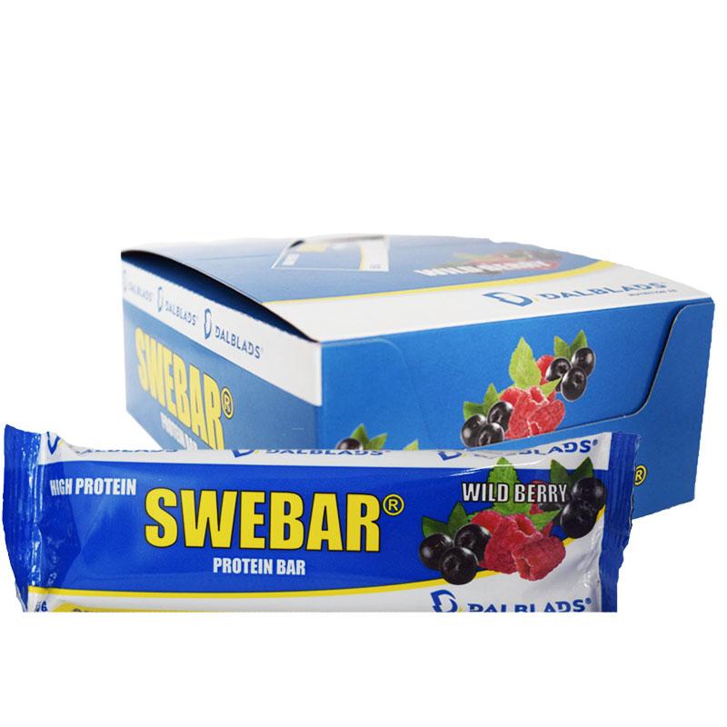 "Hel Låda Proteinbars ""Wild Berry"" 20 x 55g - 57% rabatt"