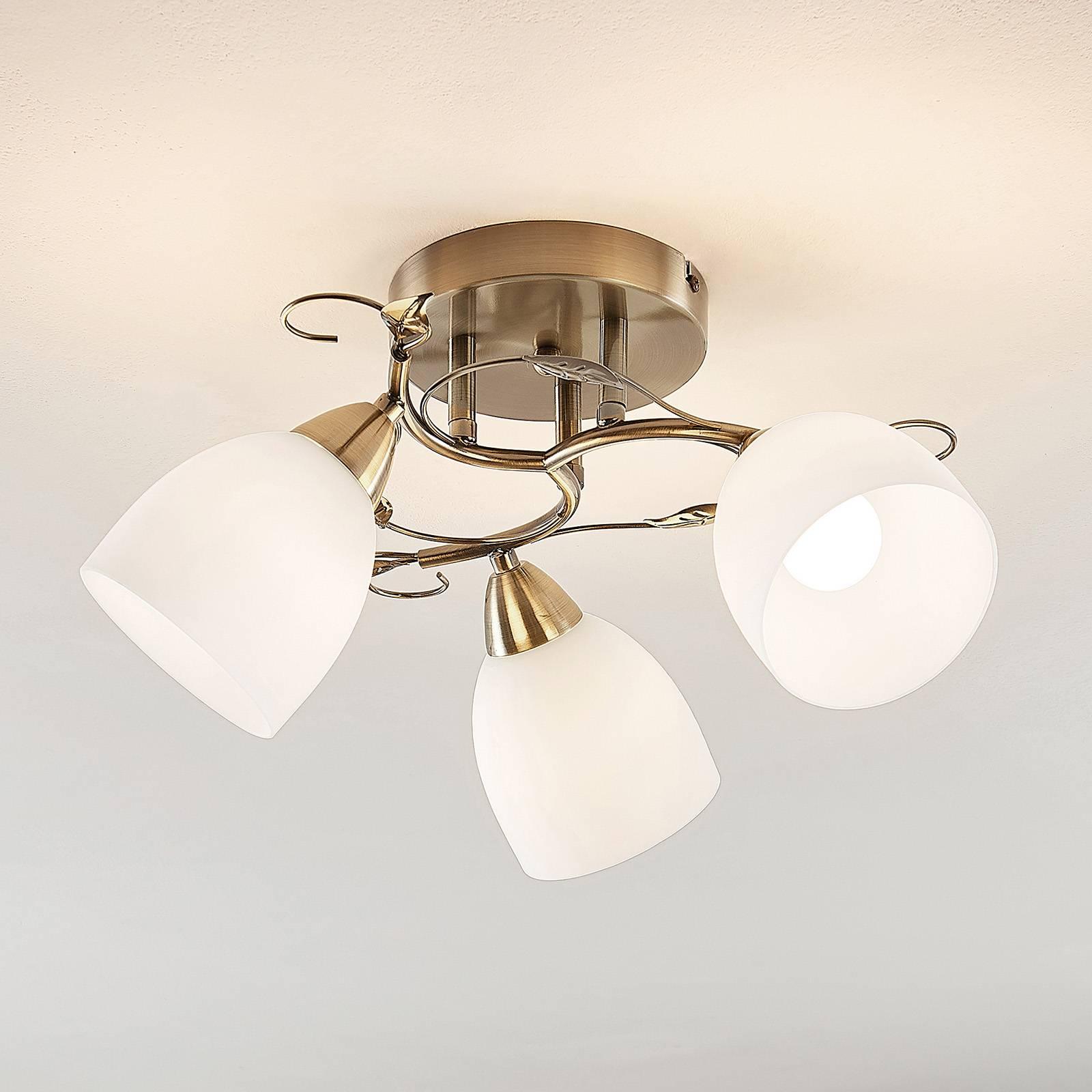 Lindby Thaddeus -kattovalaisin, 3-lamp., 23 cm