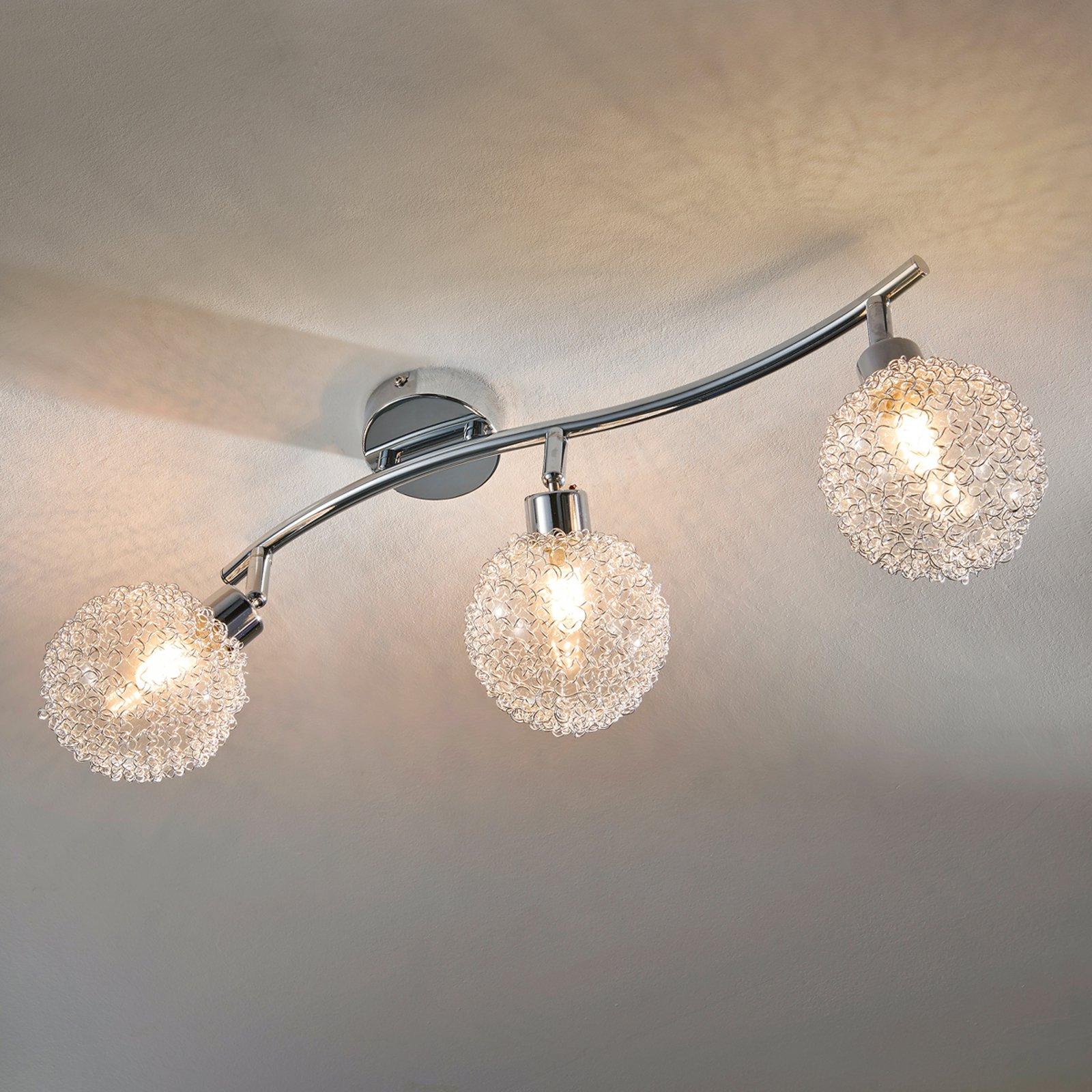 Trepunkts LED-taklampe Ticino
