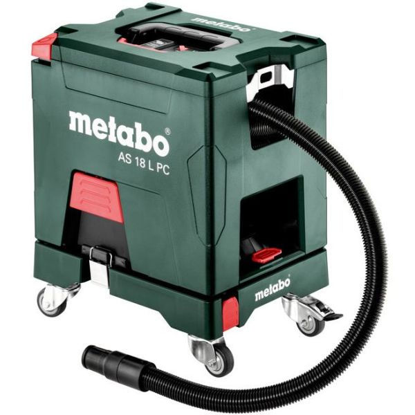 Metabo Set AS 18 L PC Støvsuger uten batteri og lader, med rullebrett