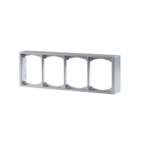 ABB Impressivo Korotuskehys 2-osainen, alumiini 4-paikkainen