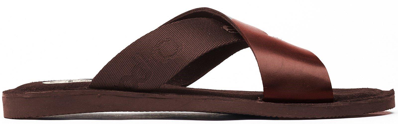 Base London Men's Miso Slip On Sandal Various Colours 32261 - Brown 7